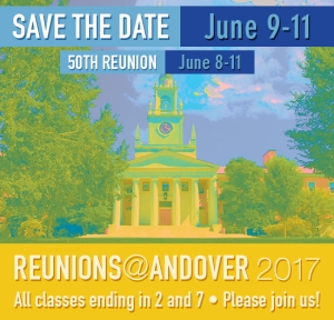 Reunion Weekend 2017, June 9-11, 2017 - 50th Reunion, June 8-11, 2017 - All classes ending in 2 or 7, Please join us!